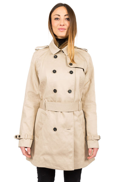 Rainproof Trench camel - close