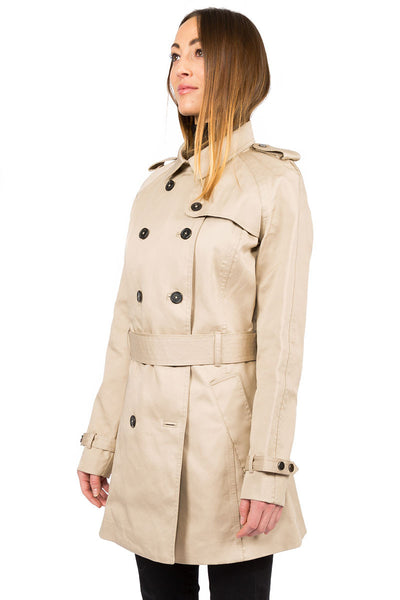 Rainproof Trench camel - side