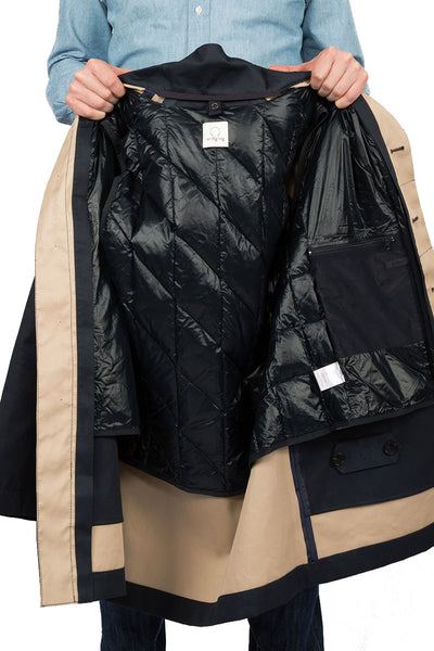 Rainproof MAC navy - with liner jacket inside