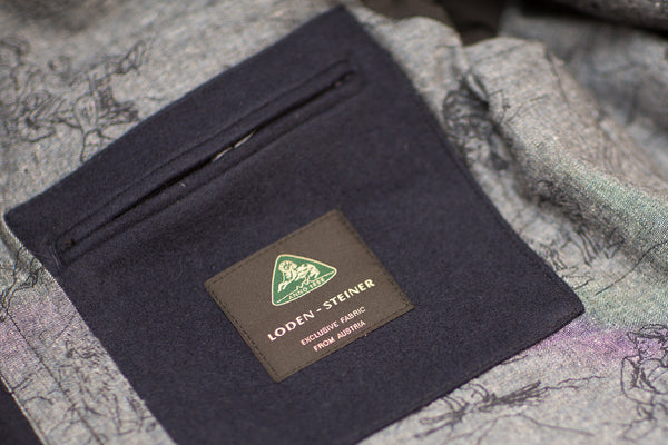 inside pocket with wool fabric label from Loden Steiner