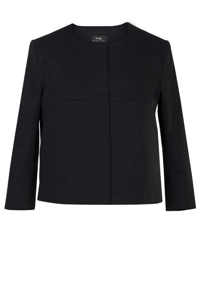 Black Stretch Cotton Jacket