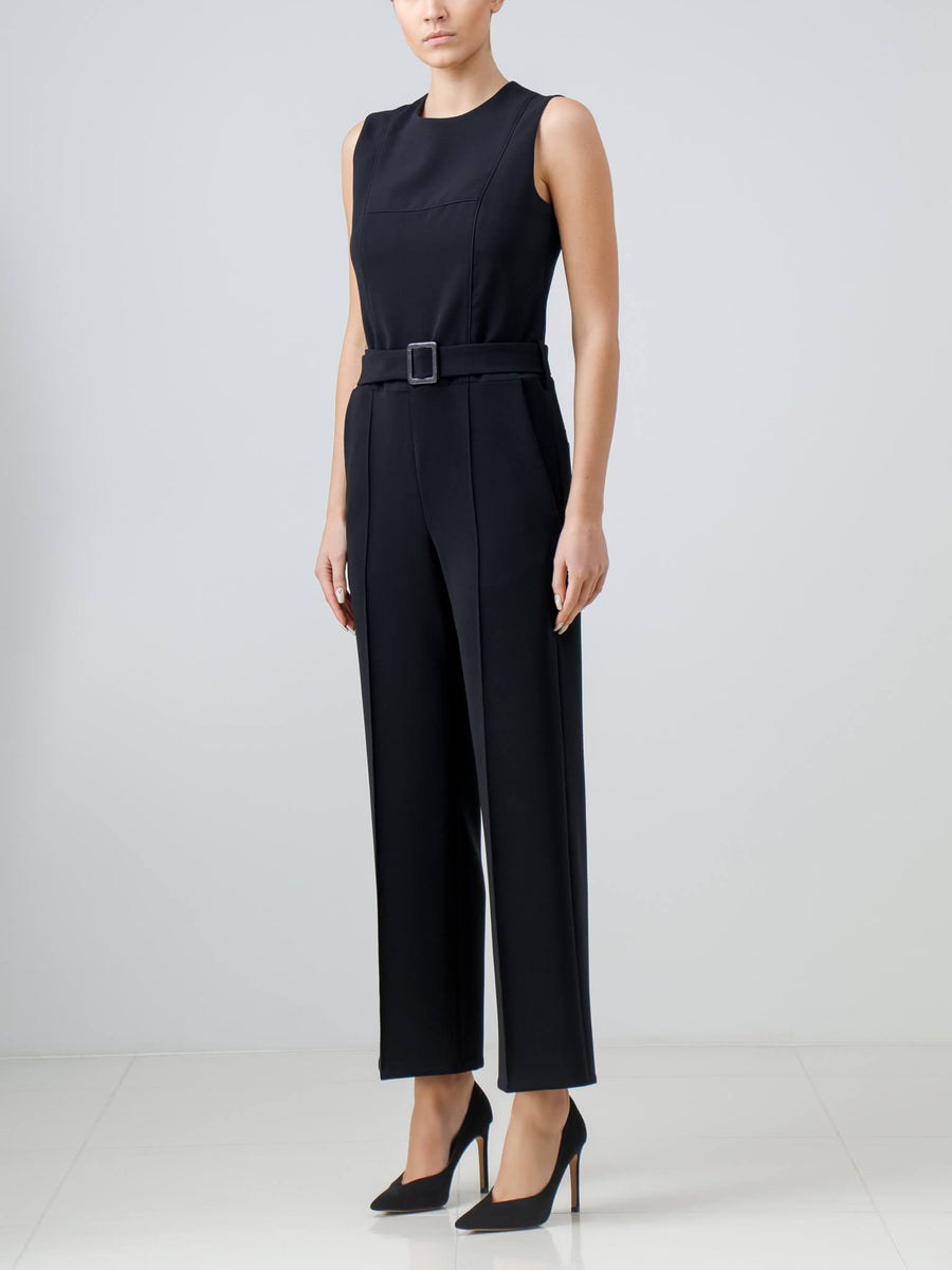 Black Crepe Jumpsuit