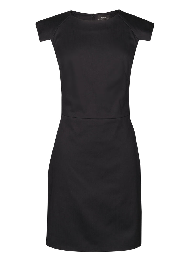Black pencil dress in stretch cotton