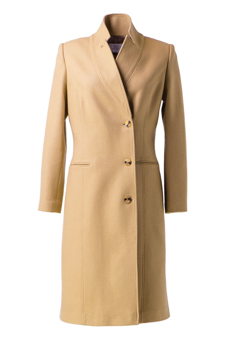 Camel wool coat
