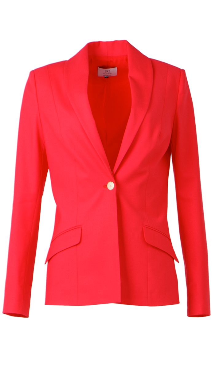 Coral stretch-wool jacket