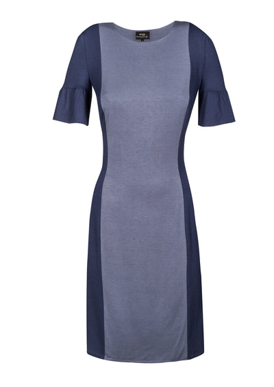 Body-con dress with contrasting side panels