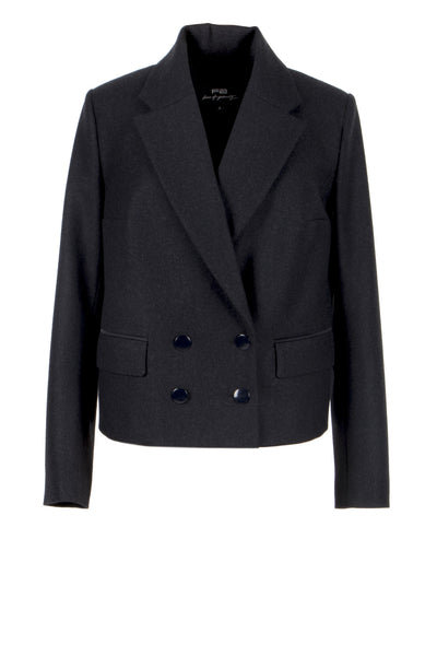 Grey wool and cashmere jacket