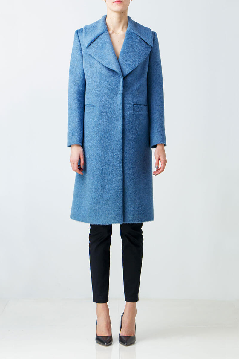 Light blue alpaca coat