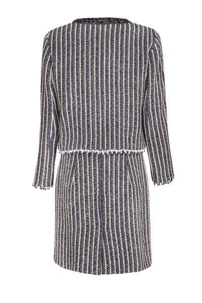 Striped wool skirt suit