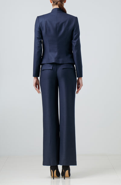 Navy blue wool pants
