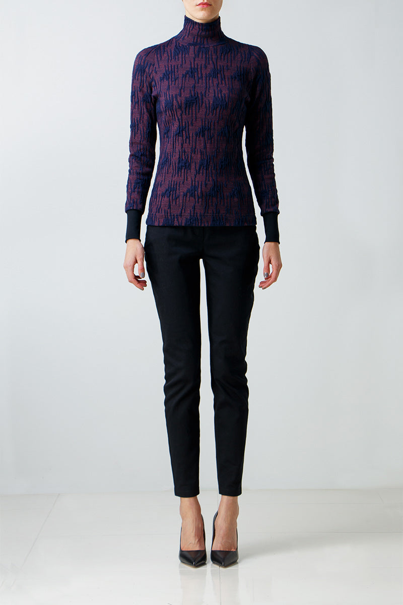 Patterned turtleneck
