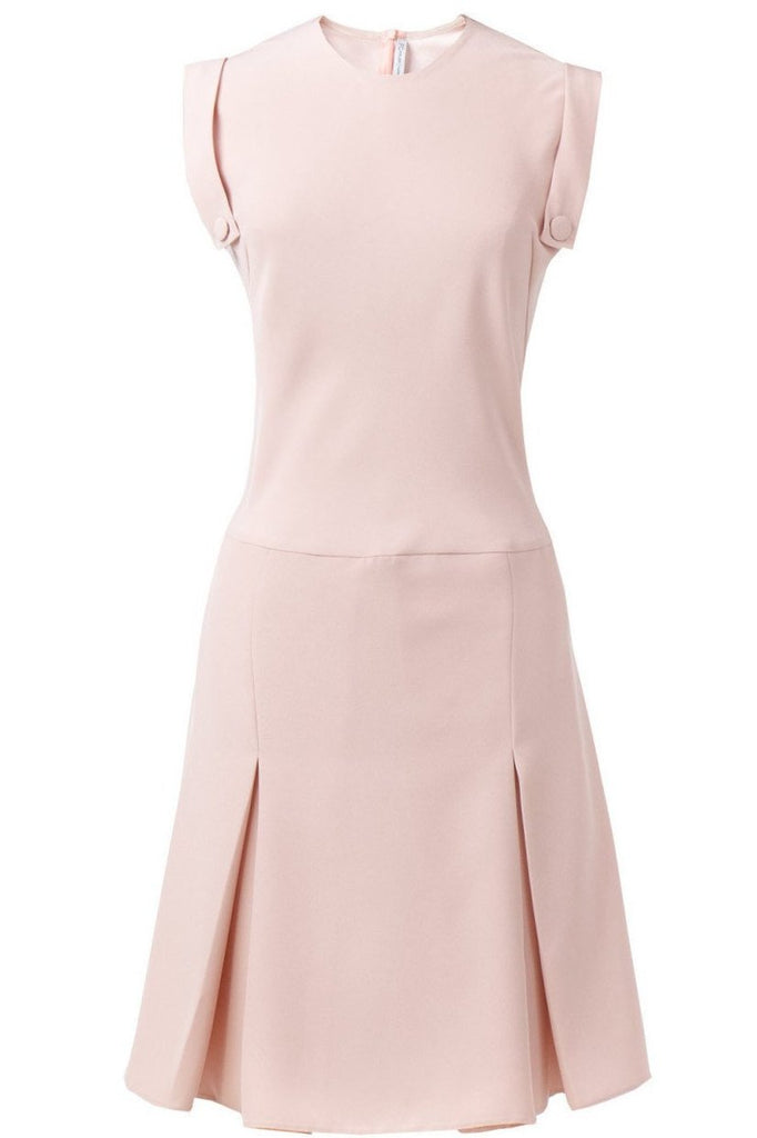 Pink nude crepe dress