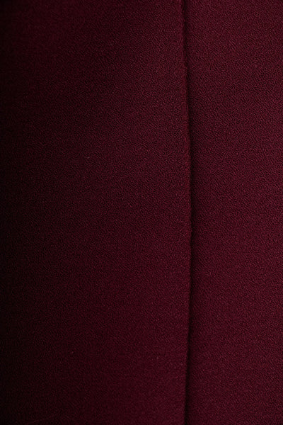 Burgundy Viscose Crepe Pants