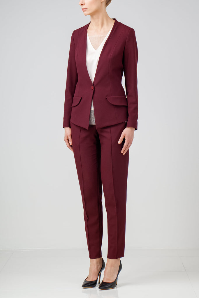 Purple crepe suit