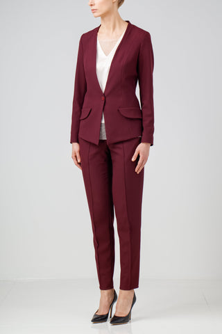 Plaid wool pantsuit