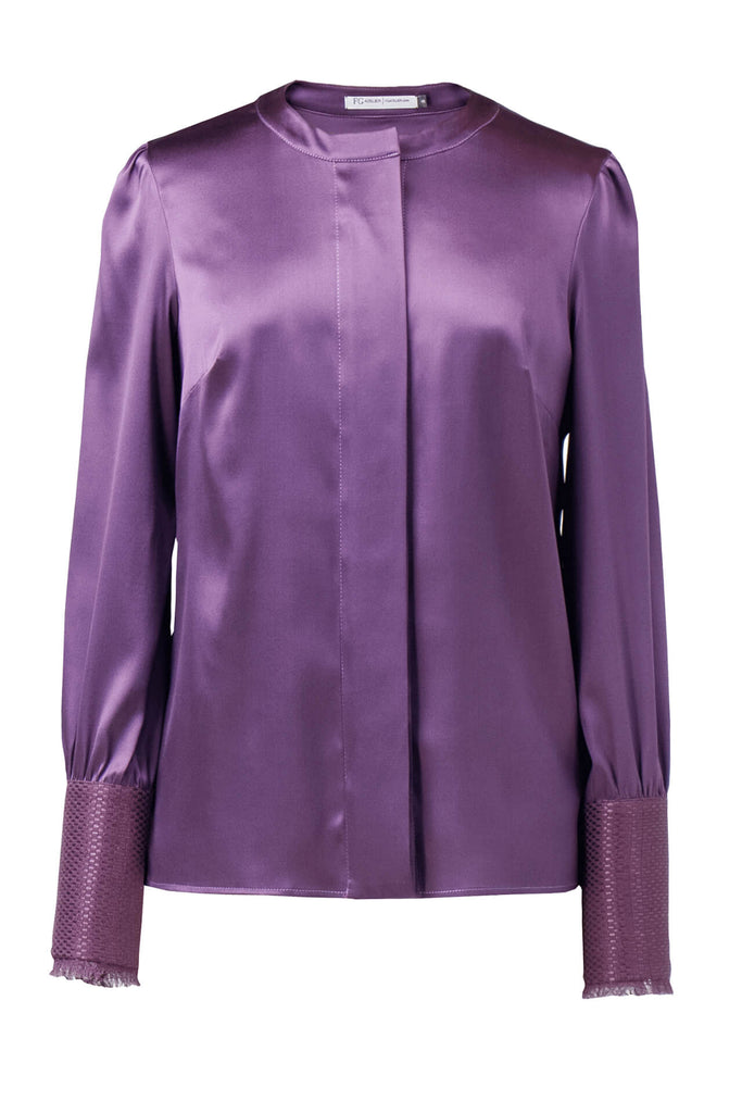 Stretch-silk purple shirts