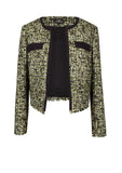Tweed jacket with contrasting flap pockets