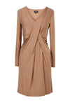 Viscose & cashmere blend dress