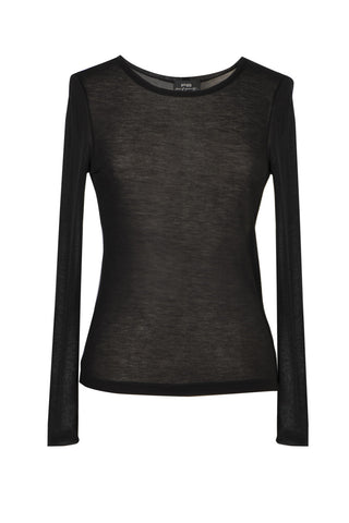 Black silk top, Top, FG atelier
