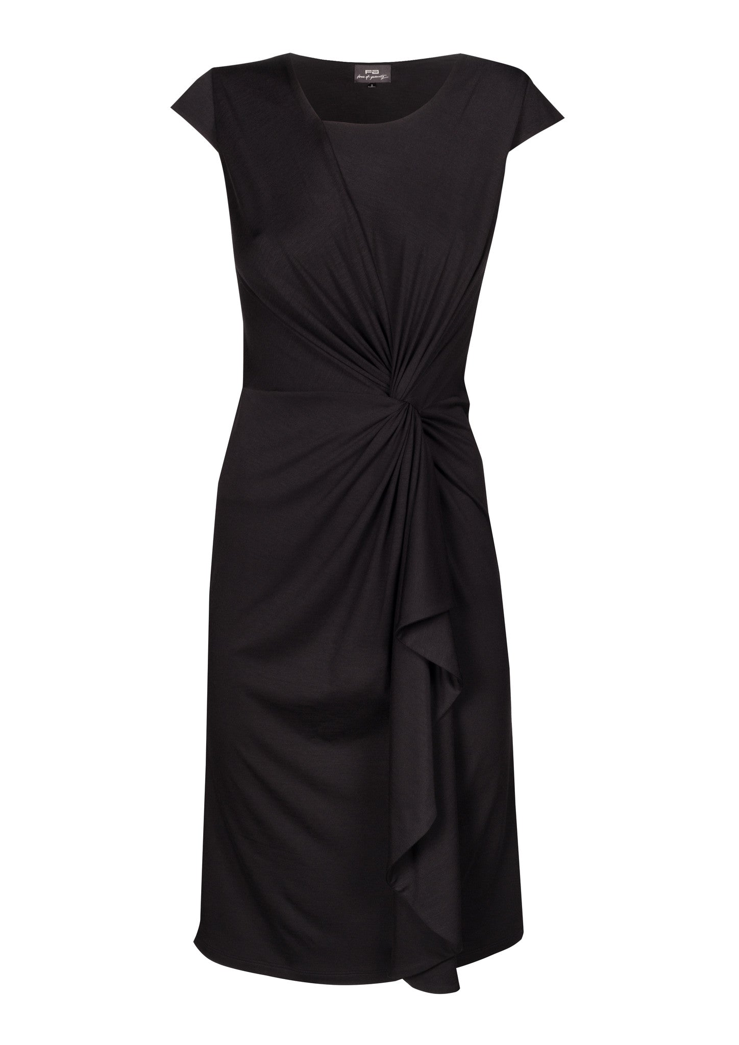 8659bd20d89 Gathered   twisted viscose jersey dress in black ...