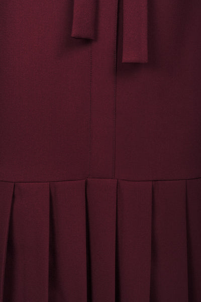 Burgundy Crepe Dress