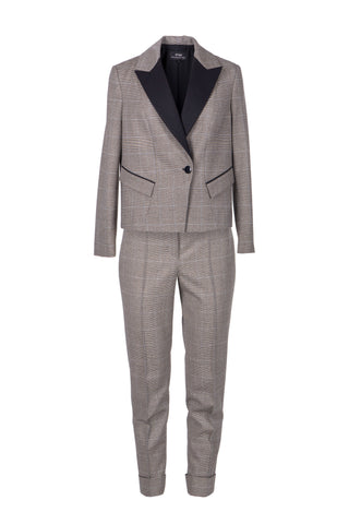Grey wool and cashmere pantsuit