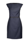 Dark blue wool dress