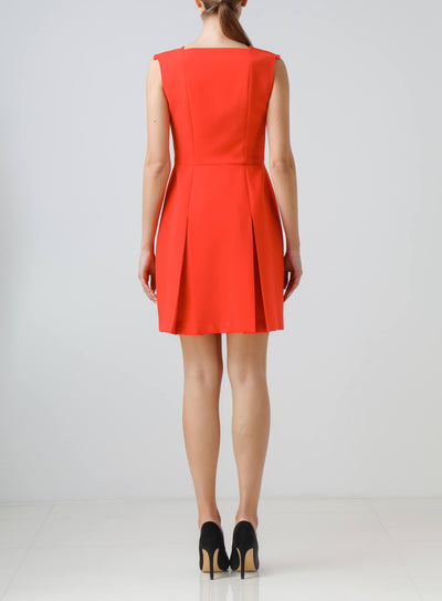 Red coral dress