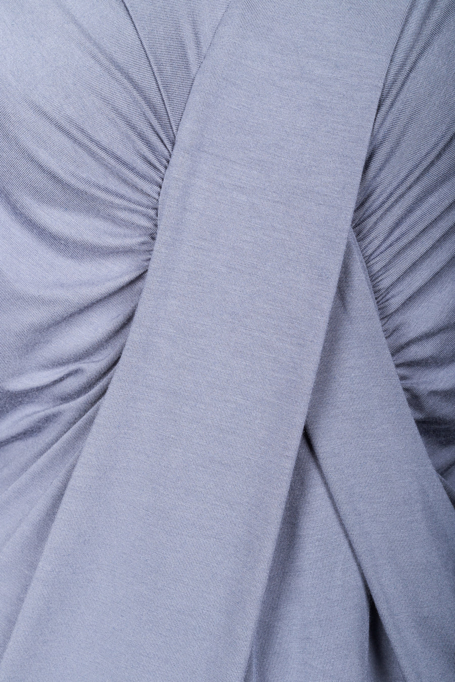 Viscose & cashmere blend dress in light blue