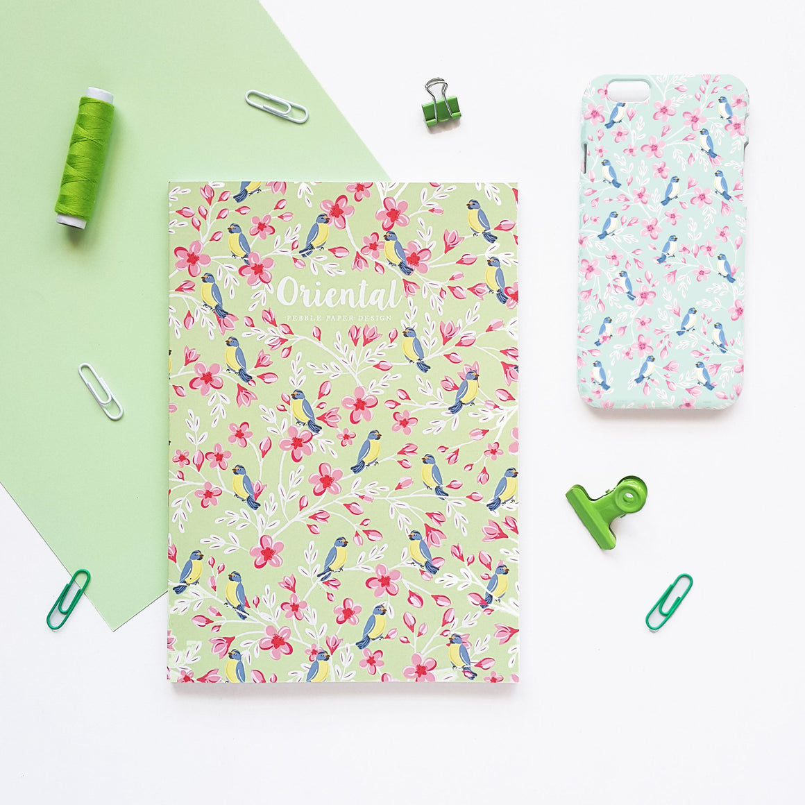 Cherry Bird Notebook Set