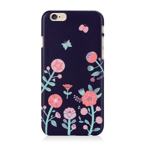 Flower Navy-Phone Case