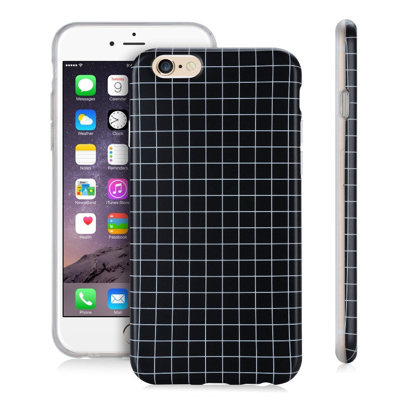 Grid Black-Phone Case