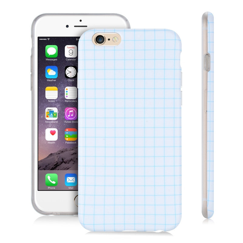 Grid Blue-Phone Case