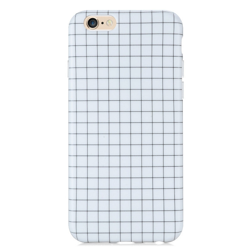 Grid White-Phone Case