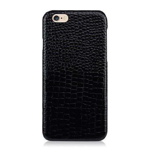 LUXE Black Leather-Phone Case