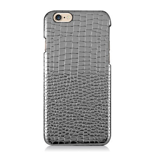 LUXE Leather Chrome-Phone Case