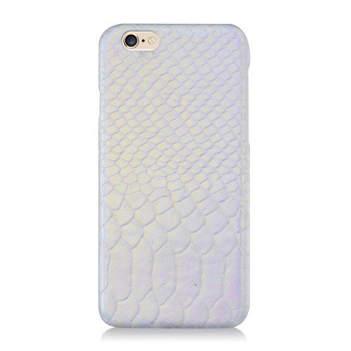 LUXE Silver Hologram Leather-Phone Case