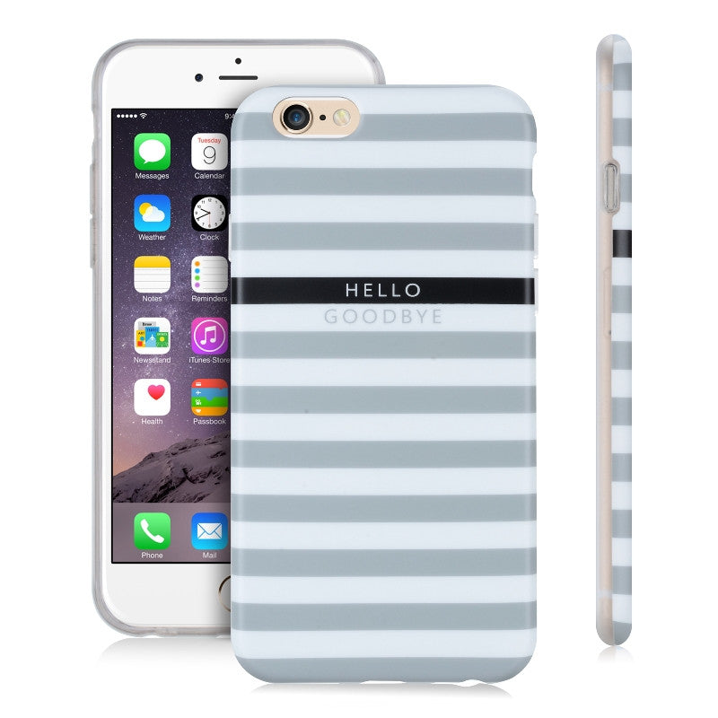 Perry Stripes Gray-Phone Case