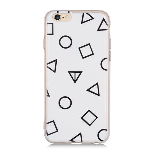 White Geo-Phone Case
