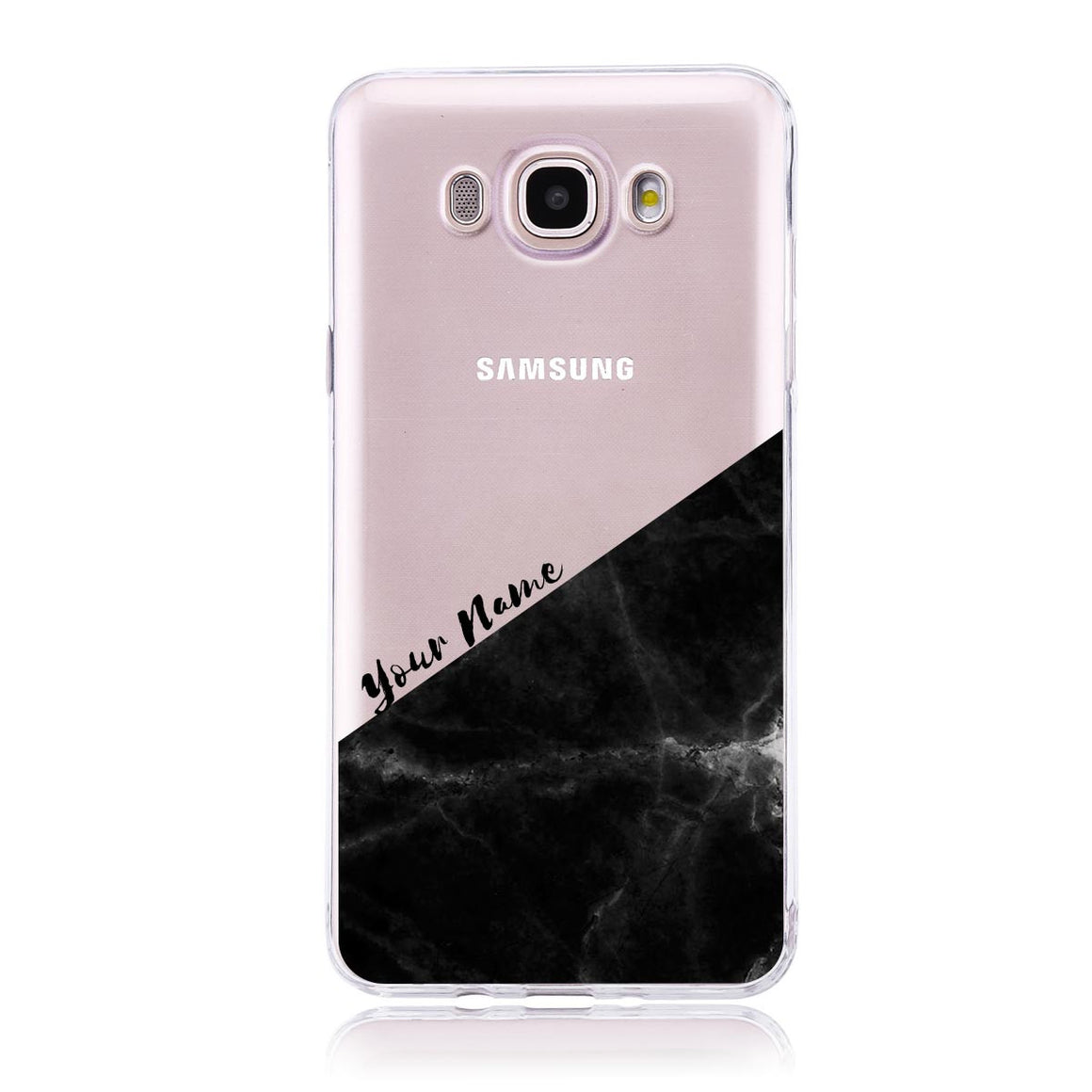 Black Marble Cut - Samsung J7 Customised Case