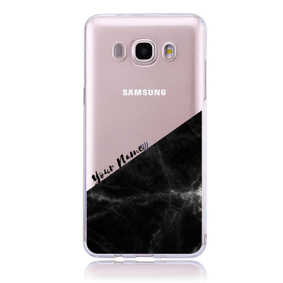Black Marble Cut - Samsung J5 Customised Case