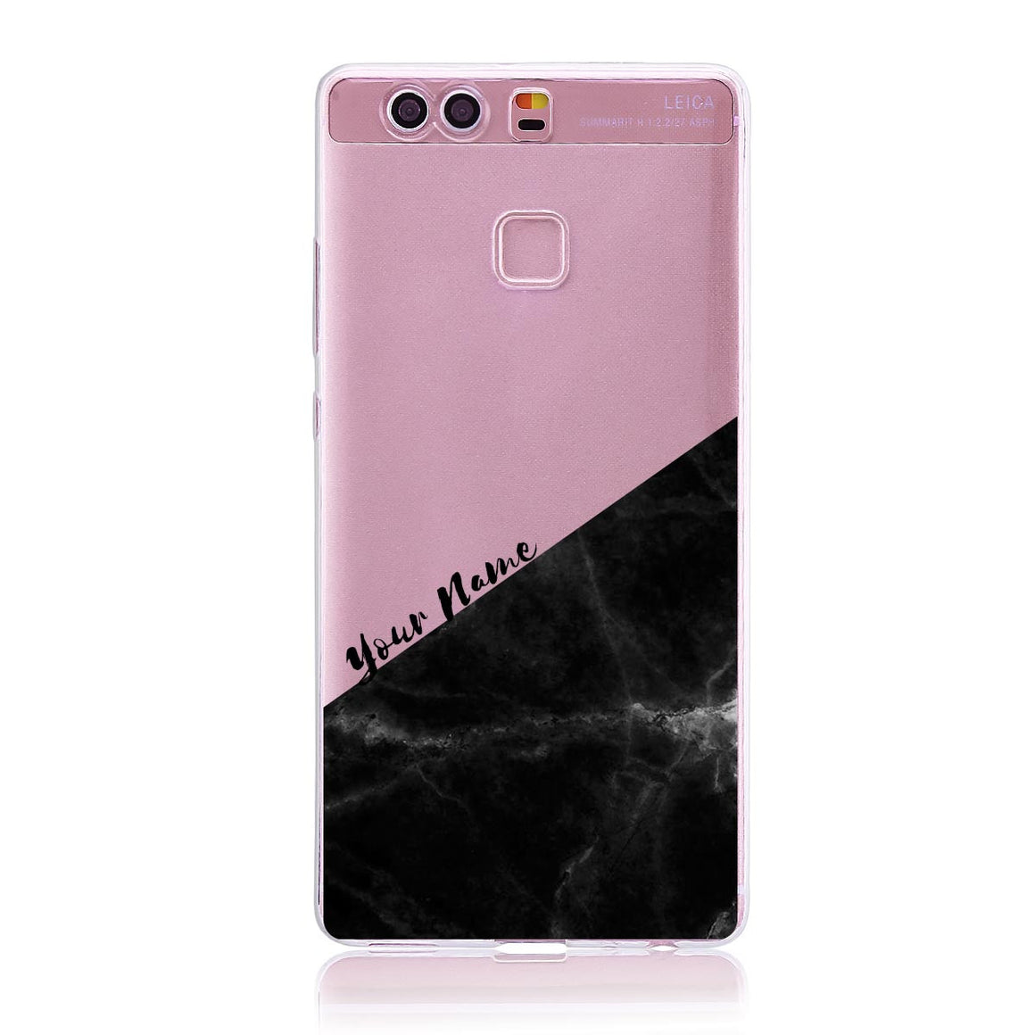 Black Marble Cut - Huawei P9 Customised Case