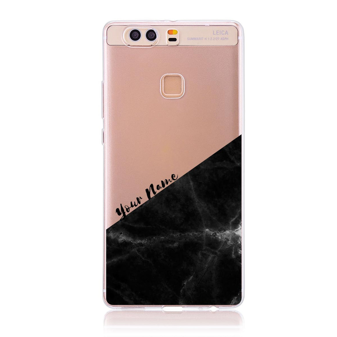Black Marble Cut - Huawei P9 Plus Customised Case