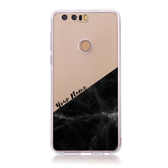 Black Marble Cut -  Honor 8 Customised Case
