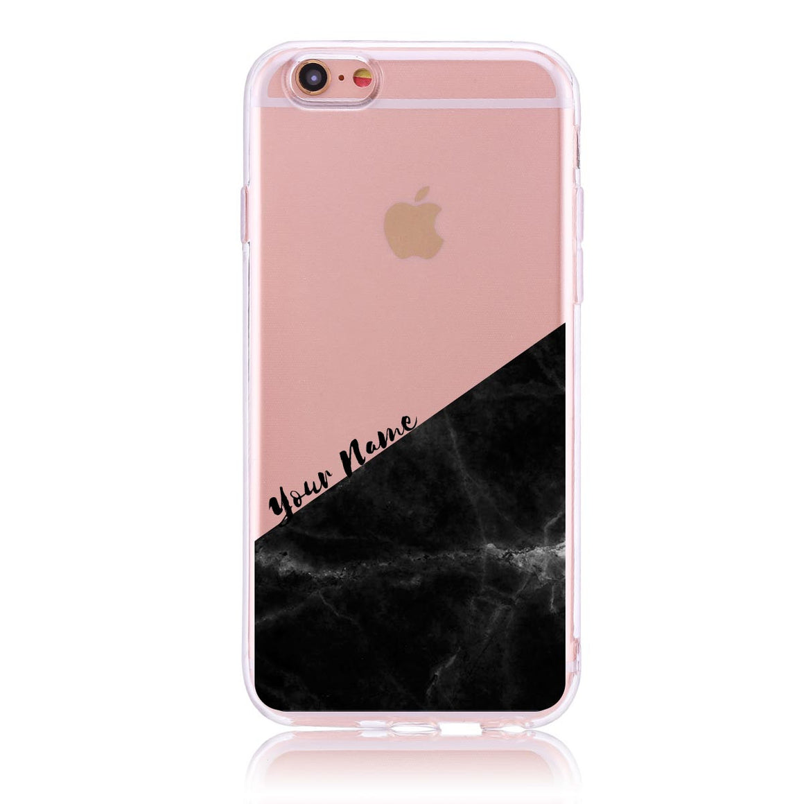 Black Marble Cut - iPhone 6/6s Customised Case