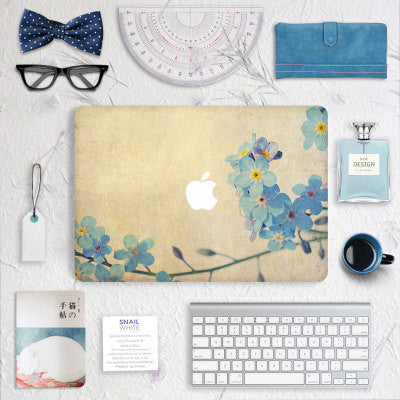 Macbook - Blue Flowers