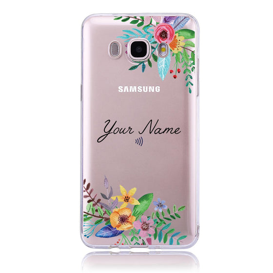 Floral Name - Samsung J5  Customised Case