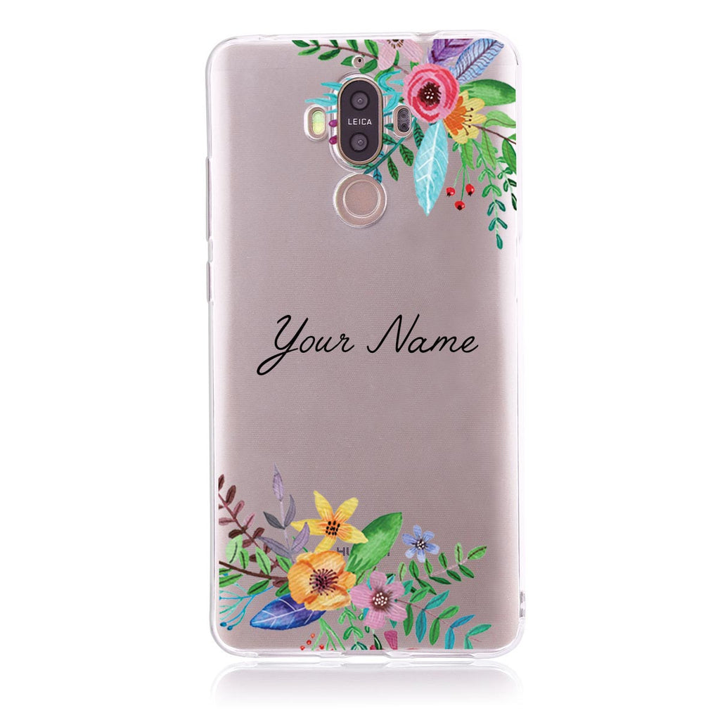 Floral Name - Huawei Mate 9  Customised Case