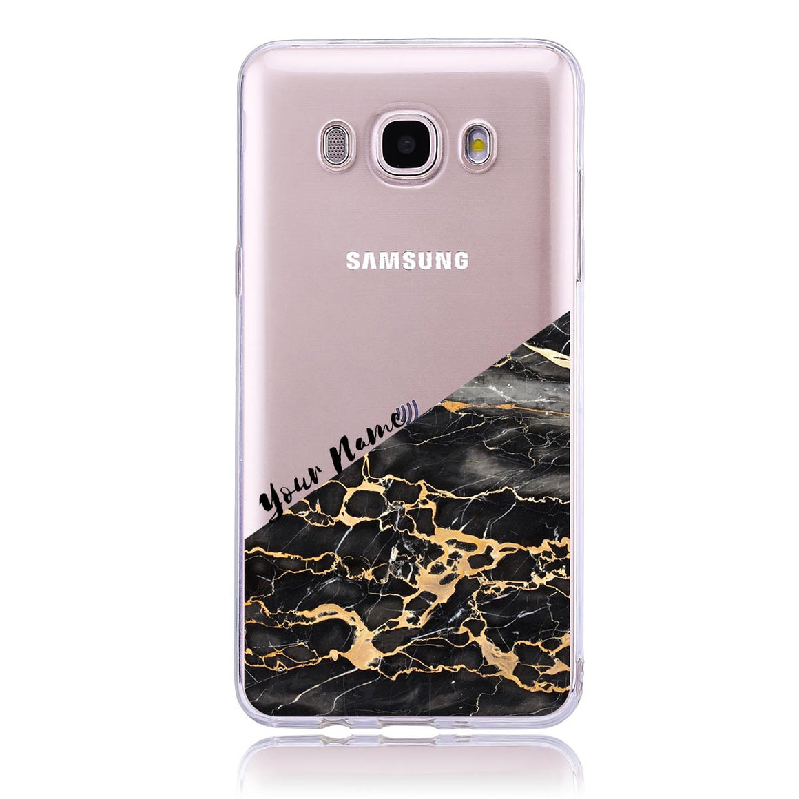 Gold Marble Cut -Samsung J5  Customised Case