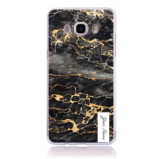 Gold Marble Label-Samsung J5 Customised Case